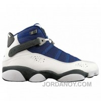 Air Jordan 6 Rings White French Blue Flint Grey University Blue 322992-141 Top Deals