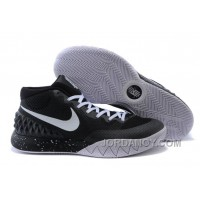 Nike Kyrie Irving 1 Black White Basketball Shoes Cheap For Sale Lastest