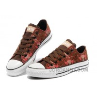 CONVERSE Chinese Year Snake Texture Chuck Taylor Brown Red Ps Canvas Sneakers Cheap To Buy