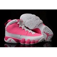 New Air Jordan 9 GS Pink White Shoes Authentic