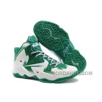 """Top Deals Nike LeBron 11 """"Michigan State"""" PE White Green For Sale"""