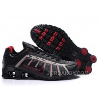 Men's Nike Shox NZ Shoes Black/Grey/Red New Release