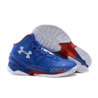 "Under Armour Curry 2 ""Providence Road"" Blue White Red Shoes For Sale"