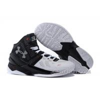 "Under Armour Curry 2 ""Suit & Tie"" Black White Red Shoes For Sale Online"