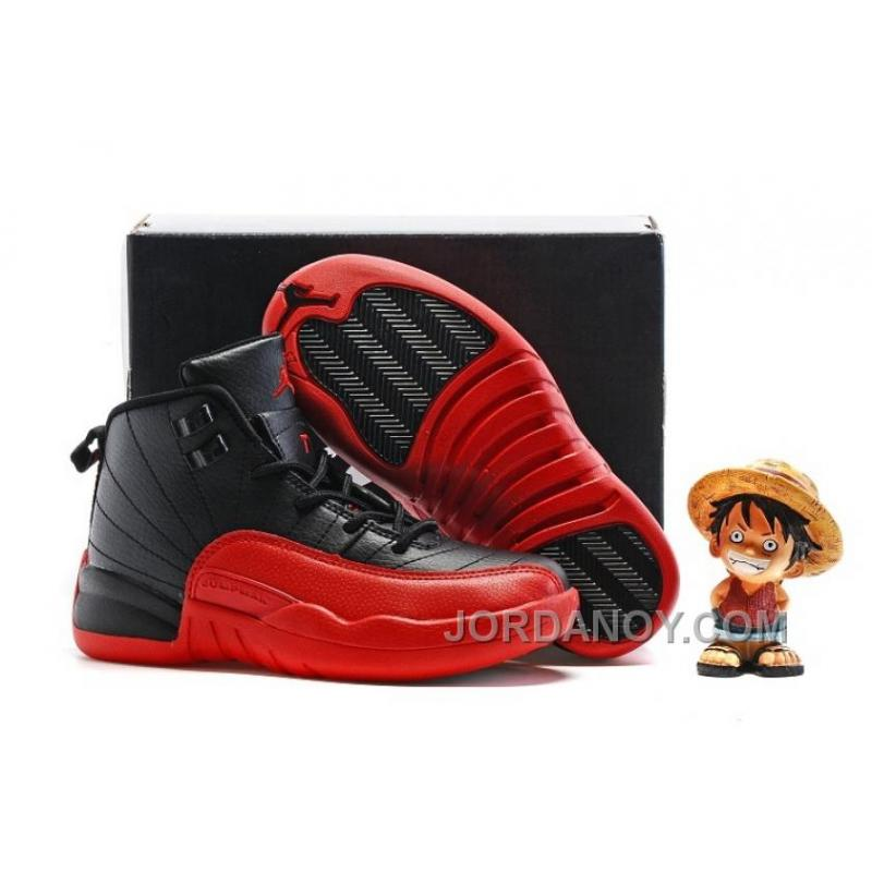 f2cc5a24be22 USD  69.06  143.56. 2017 Kids Air Jordan 12 Black Varsity Red Hot ...