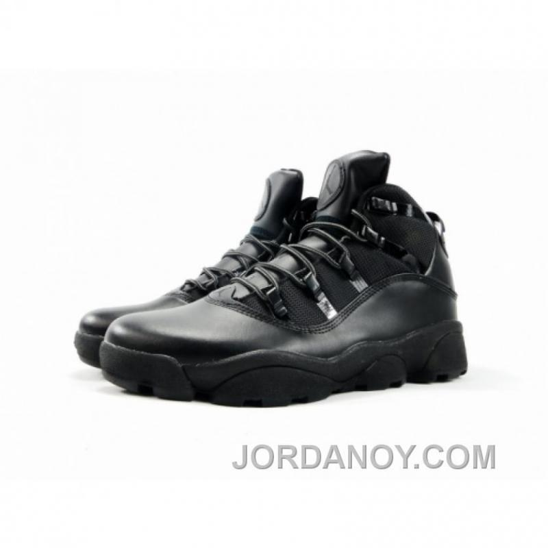 c2b3c012627a ... Air Jordan Winterized 6 Rings Lifestyle Shoes All Dark Black Free  Shipping ...