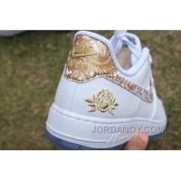 Air Force 1 Chinese Year White Gold Peony New Release