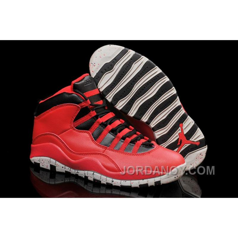 """591de58d1a8585 Free Shipping Air Jordans 10 """"Gym Red"""" Gym Red Black-Wolf Grey Shoes ..."""