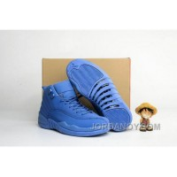 "Hot Now 2016 Air Jordan 12 ""Blue Suede"" Shoes"