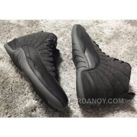Christmas Deals 852627-003 New Air Jordan 12 Wool Grey Silver Black For Sale