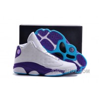 "Cheap To Buy Air Jordans 13 ""Hornets"" White Purple For Sale"