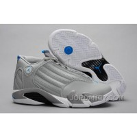 "For Sale Air Jordans 14 Retro ""Sport Blue"" Wolf Grey/White"