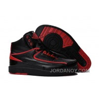 "Super Deals 2016 Air Jordan 2 ""Alternate '87"" Black/Red Shoes"