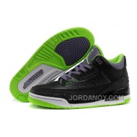 "New Air Jordan 3 Retro ""Joker"" Black/Electric Green-Canyon Purple-White Top Deals"