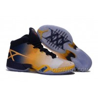 "Free Shipping Air Jordan 30 XXX ""Cal Golden Bears"" White-Navy/Yellow 2016"