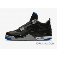Air Jordan Retro 4 Alternate Motorsport Black/Game Royal/Matte Silver For Sale