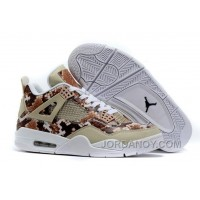 "Cheap To Buy 2016 Air Jordans 4 ""Snakeskin"" White Grey Brown For Sale"