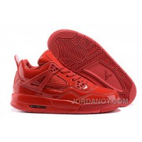 "Free Shipping Air Jordans 4 Retro 11Lab4 ""Red Patent Leather"" For Sale"