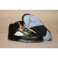 Cheap To Buy 2017 Air Jordan 5 Black Olympic Gold Medal For Sale