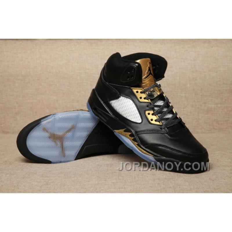 air jordan 5 black and gold