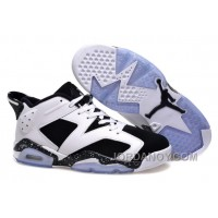 "Top Deals Air Jordans 6 Low ""Oreo"" White/Black Shoes For Sale"