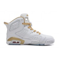 """Authentic Air Jordans 6 Retro """"Gold Medal"""" White/Gym Red-Metallic Gold-Sail For Sale"""