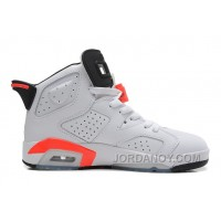 "Authentic Air Jordans 6 Retro ""Infrared"" White/Infrared-Black For Sale"