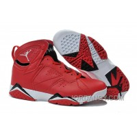 Authentic Air Jordans 7 Red Black White Shoes For Sale