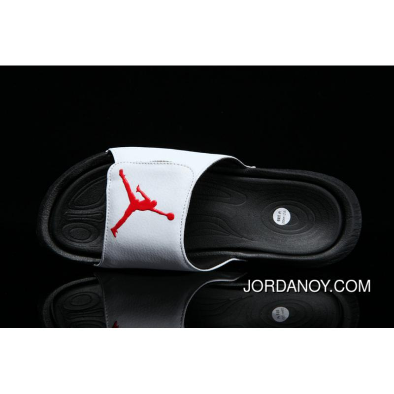 59a9f5267 USD  37.38  97.20. Air Jordan Hydro 6 Sandals White Gym Red Black Authentic  ...