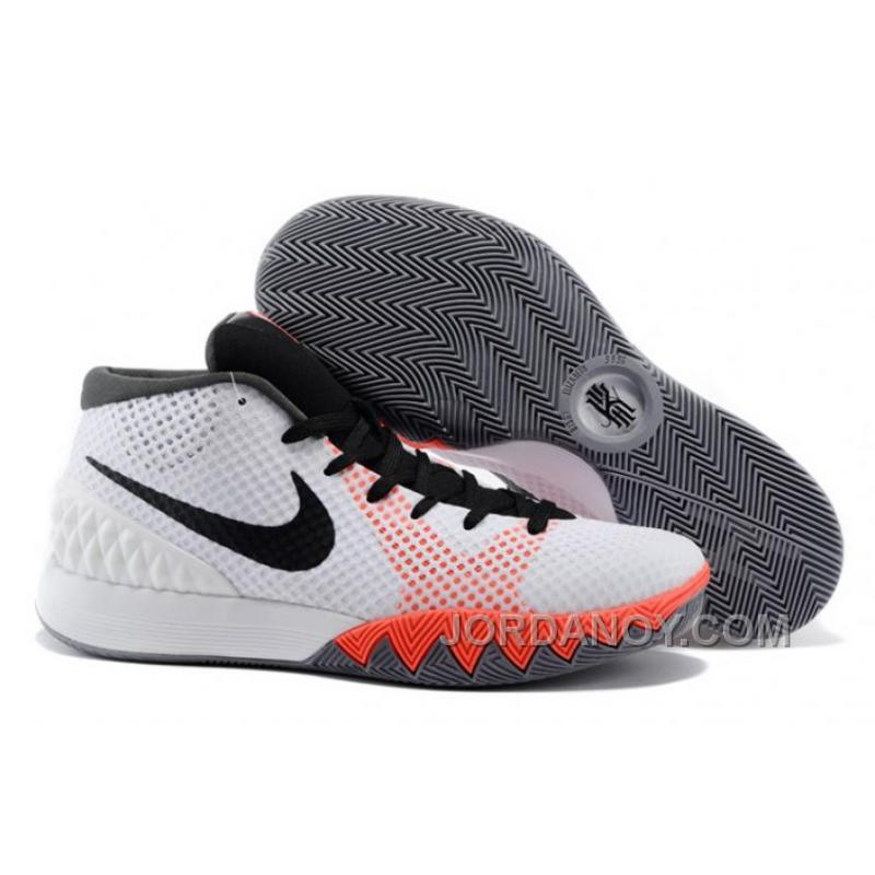 f6ae26e49a1 Hot Now Nike Kyrie Irving 1 White Black-Dove Grey-Infrared For Sale ...
