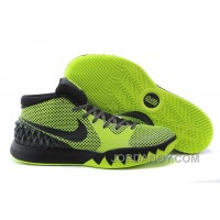 Nike Kyrie Irving 1 Black Green Mens Basketball Shoes Cheap Sale Online Top Deals