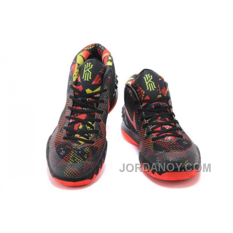 "newest b2662 88f4f ... Cheap Nike Kyrie Irving 1 ""Dream"" Black Bright Crimson-Anthracite Online  For ..."
