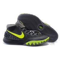 Top Deals Nike Kyrie Irving 1 Black Grey Green Basketball Shoes Cheap Sale
