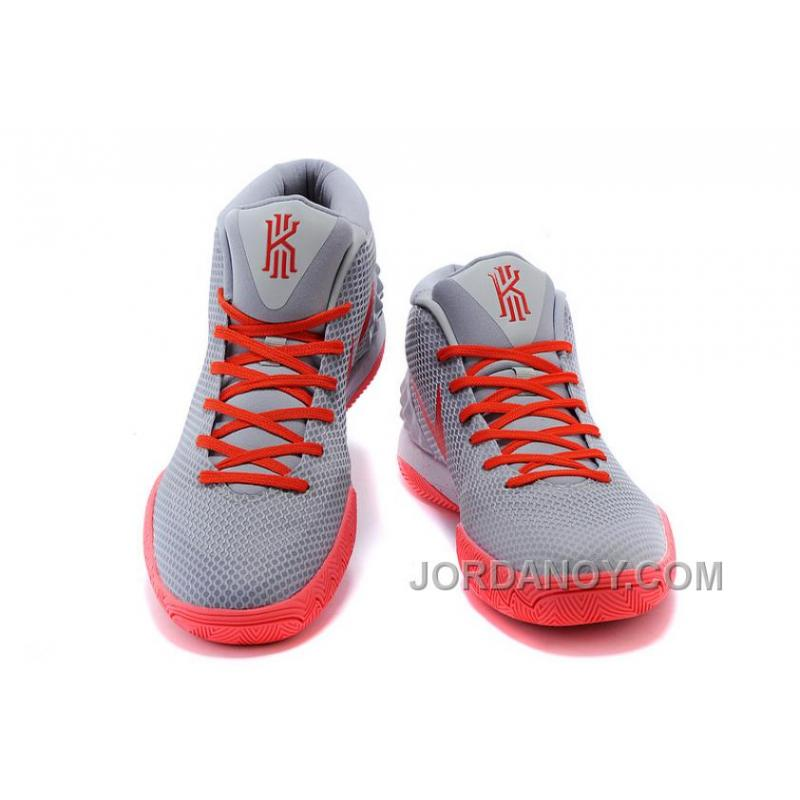 ... Online Nike Kyrie Irving 1 Grey Red Basketball Shoes On Sale ...