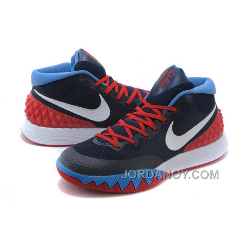 5c4206f91911 ... Nike Kyrie Irving 1 Navy Blue Red-White Online Cheap Sale Discount ...