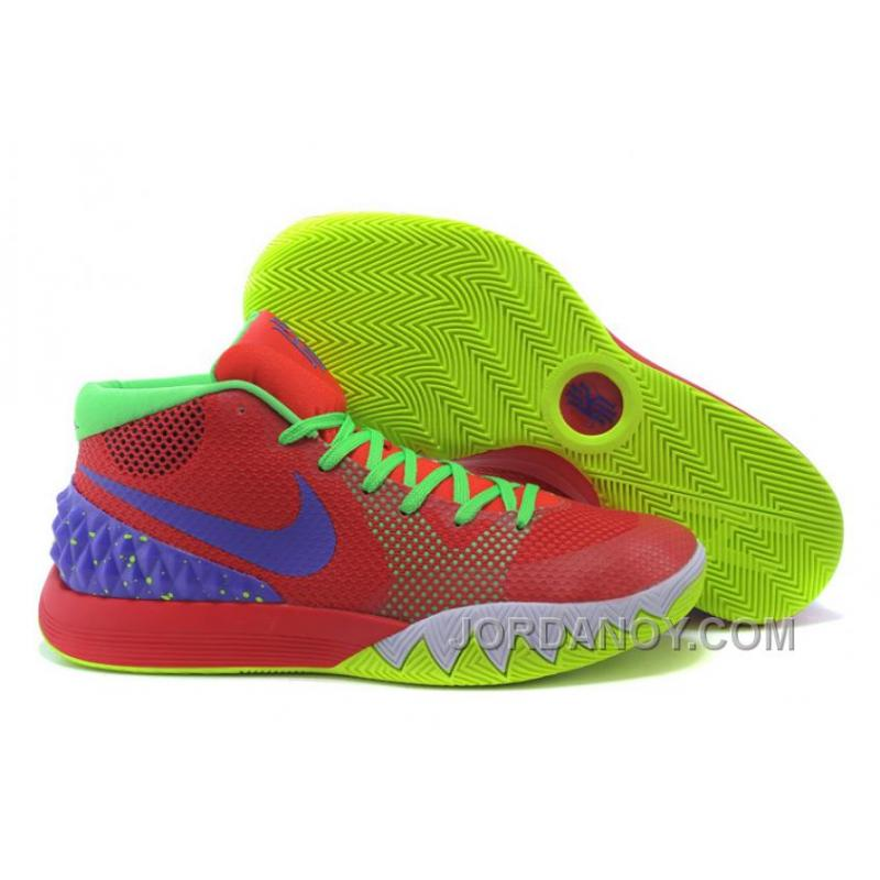 pretty nice 358f7 36cb0 Nike Kyrie Irving 1 Red-Purple/Neon Green For Sale Cheap Price Authentic