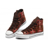 CONVERSE Chinese Year All Star Snake Texture Brown Red High Tops Canvas Sneakers Online