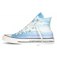 Blue High CONVERSE Chuck Taylor All Star Photo Real Sunset Print Shoes Authentic QnmzS65