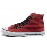 Zipper Red CONVERSE All Star High Tops Stripes Multi Eyelet Canvas Authentic JN2NDwr