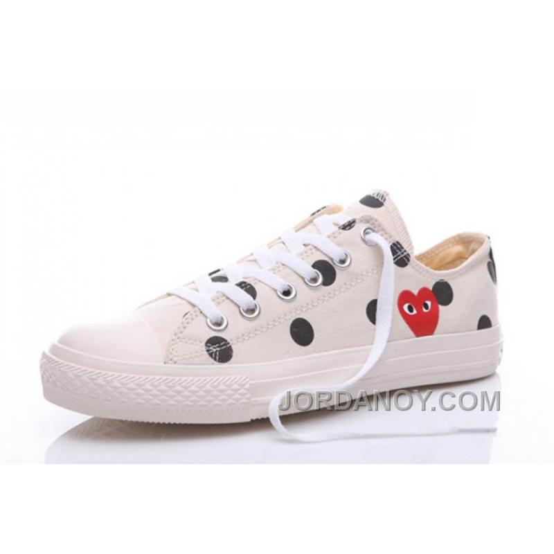 7e8500235a97 USD  64.00  164.30. White CONVERSE Comme Des Garcons Polka Dot Play Chuck  Taylor Low For Sale M2NZ74D ...