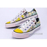CONVERSE Comics Pattern Printed Multi Colored Silk Road Tops Chuck Taylor All Star Canvas Shoes Free Shipping FeWKrT