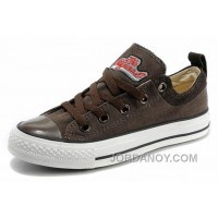 Top Deals Cool CONVERSE Brown S Embroidery Chucks All Star Canvas Brown Suede Easy Slip WsSbZd