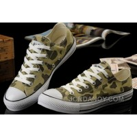 Top Deals Summer CONVERSE Nicolas Cage Soul Camouflage Army Olive Green All Star Chucks S Canvas Sneakers SeBcEP5