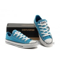 Korea Edtion Fluorescent Light Blue CONVERSE All Star Chuck Taylor Tops Canvas Shoes Lastest AnMiDHS