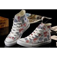 Summer CONVERSE Camouflage High Tops Nicolas Cage Soul Grey Red All Star Chucks Canvas Sneakers Online