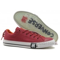 Undefeated CONVERSE All Star Tops Wine Red Canvas Clear Rubber Soles Authentic SyTG6