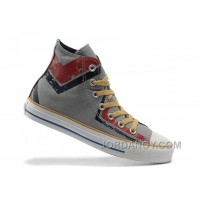 CONVERSE High Tops Grey All Star Red Black Graffiti Printed All Star Canvas Super Deals MjBhX
