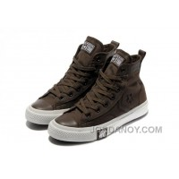 Brown CONVERSE High Tops Chocolate All Star Canvas Shoes Christmas Deals TTyRk