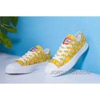 Yellow CONVERSE X The Simpsons Chuck Taylor All Star Canvas Authentic K7fKR8X