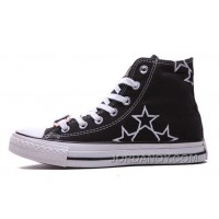 Black High Tops CONVERSE Star Embroidery CT All Star Canvas Shoes For Sale KF7QEW